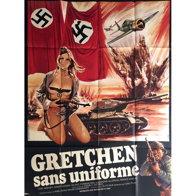 SHE DEVILS OF THE SS Movie Poster 47x63 in. - 1973 - Erwin C. Dietrich, Elisabeth Felchner