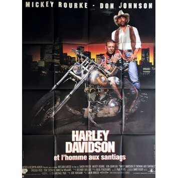 HARLEY DAVIDSON Movie Poster 47x63 in. - 1991 - Simon Wincer, Mickey Rourke