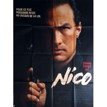 NICO Movie Poster 47x63 in. - 1988 - Andrew Davis, Steven Seagal