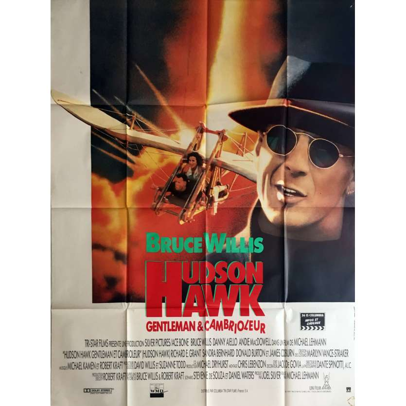HUDSON HAWK Movie Poster 47x63 in. - 1991 - Michael Lehmann, Bruce Willis