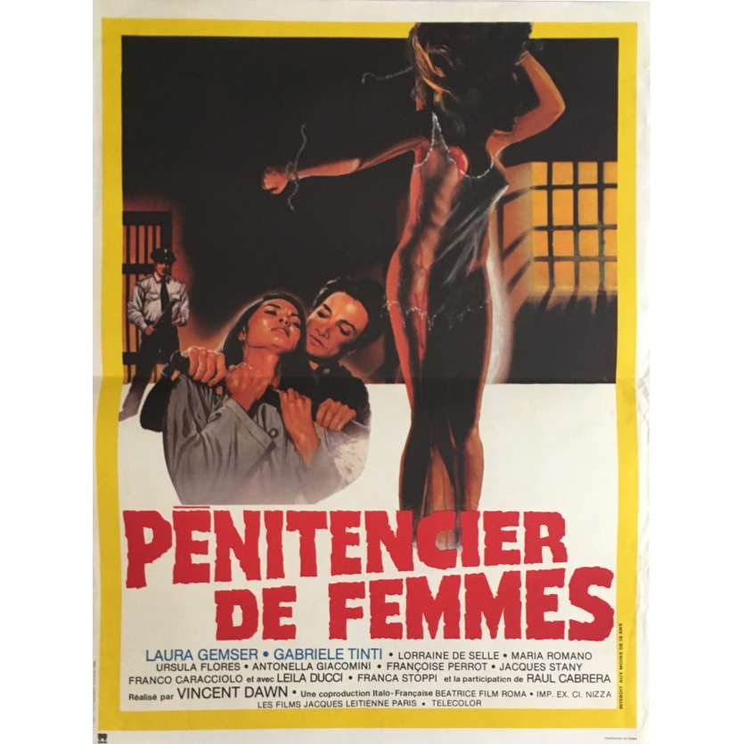CAGED WOMEN Movie Poster 15x21 in. - 1982 - Bruno Mattei, Laura Gemser