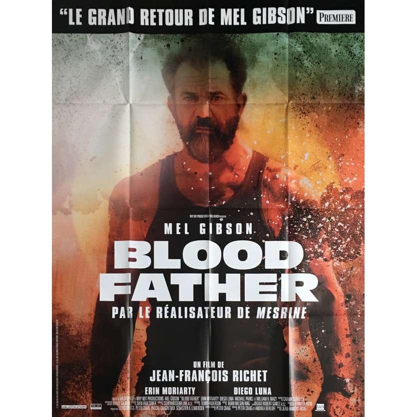 BLOOD FATHER Affiche de film 120x160 cm - 2016 - Mel Gibson, Jean-François Richet
