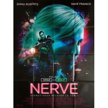 NERVE Movie Poster 47x63 in. - 2016 - Henry Joost, Emma Roberts