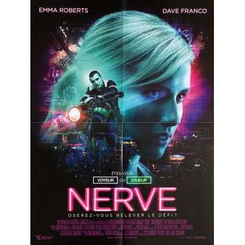 NERVE Movie Poster 15x21 in. - 2016 - Henry Joost, Emma Roberts