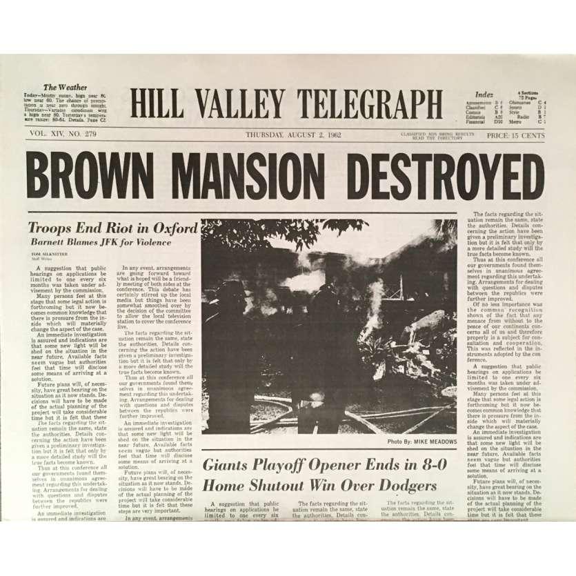 RETOUR VERS LE FUTUR Réplique EXACTE du Journal ! Brown Mansion