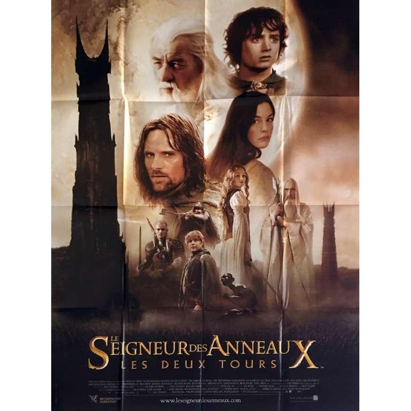 LE SEIGNEUR DES ANNEAUX - LES DEUX TOURS Affiche de film 120x160 - 2003