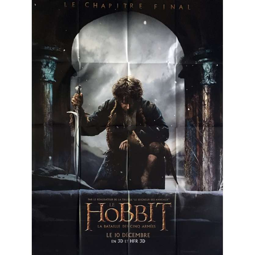 THE HOBBIT 3 prev French Movie Poster 47x63 - 2014 - Peter Jackson, Ian McKellen