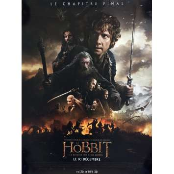 THE HOBBIT 3 Mod. A French Movie Poster 15x21 - 2014 - Peter Jackson, Ian McKellen