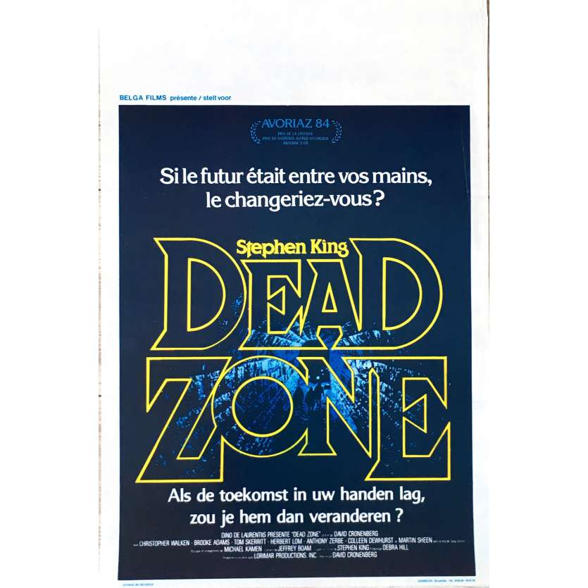 DEAD ZONE Movie Poster 14x21 in. - 1984 - David Cronenberg, Christopher Walken