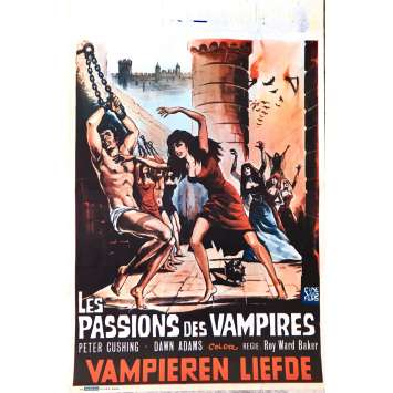 THE VAMPIRE LOVERS Movie Poster 14x21 in. - 1970 - Roy Ward Baker, Peter Cushing