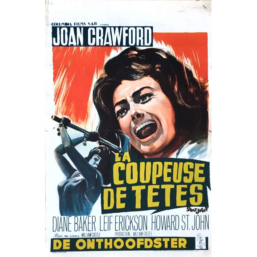 STRAIGHT JACKET Movie Poster 14x21 in. - 1964 - William Castle, Joan Crawford