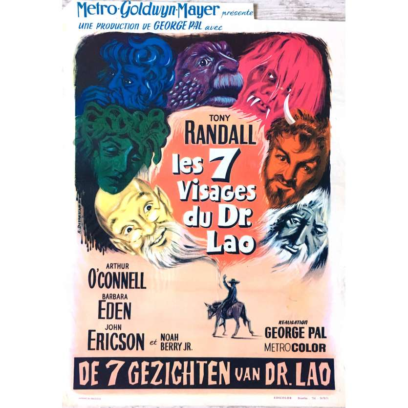 SEVEN FACES OF DR. LAO Movie Poster 14x21 in. - 1964 - George Pal, Tony Randall