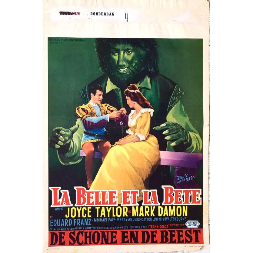 LA BELLE ET LA BETE Affiche de film 35x55 cm - 1962 - Mark Damon, Edward L. Cahn
