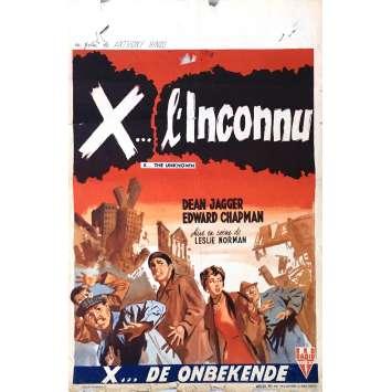 X L'INCONNU Affiche de film 35x55 cm - 1956 - Dean Jagger, Leslie Norman