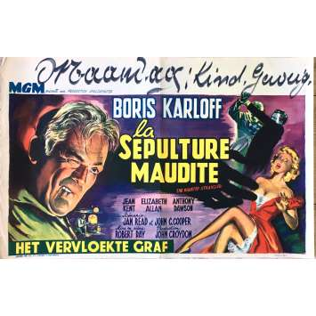 LA SEPULTURE MAUDITE Affiche de film 35x55 cm - 1958 - Boris Karloff, Robert Day