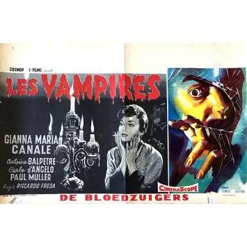 LES VAMPIRES Affiche de film 35x55 cm - 1956 - Gianna Maria Canale, Riccardo Fredda