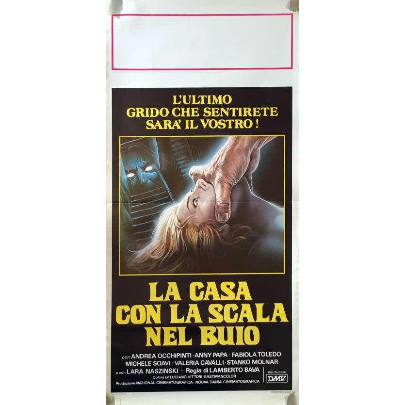 LA MAISON DE LA TERREUR Affiche de film 33x71 cm - 1983 - Andrea Occhipinti, Lamberto Bava