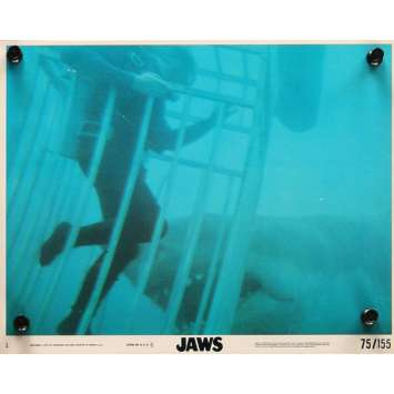 DENTS DE LA MER Photo exploitation 20x25 N1 US '75 Spielberg, Jaws Lobby Card