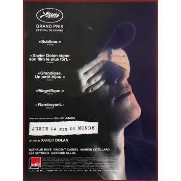 JUSTE LA FIN DU MONDE Affiche de film 40x60 cm - 2016 - Xavier Dolan, Nathalie Baye