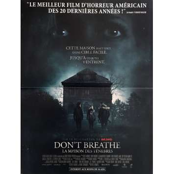 DON'T BREATHE Movie Poster 15x21 in. - 2016 - Fede Alvarez, Evil Dead Director !