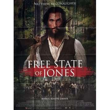FREE STATE OF JONES Movie Poster 47x63 in. - 2016 - Gary Ross, Matthew McConaughey