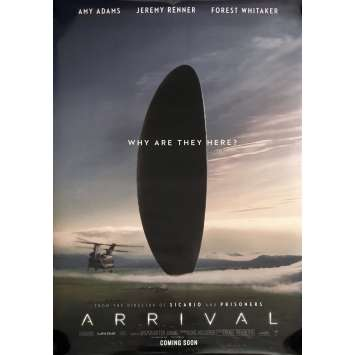 ARRIVAL Movie Poster DS 29x40 in. - 2016 - Denis Villeneuve, Amy Adams