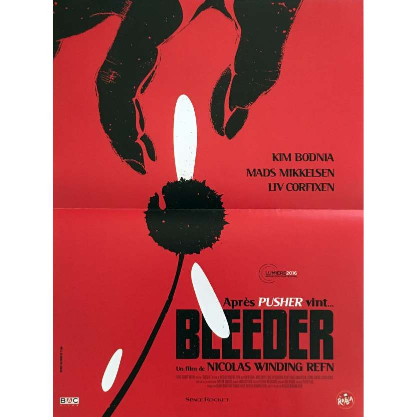 BLEEDER Movie Poster 15x21 in. - R2016 - Nicolas Winding Refn First Movie !