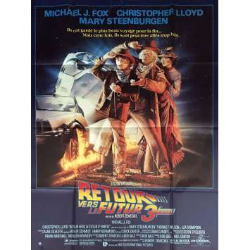 BACK TO THE FUTURE III Movie Poster 47x63 in. French - 1990 - Robert Zemeckis, Michael J. Fox