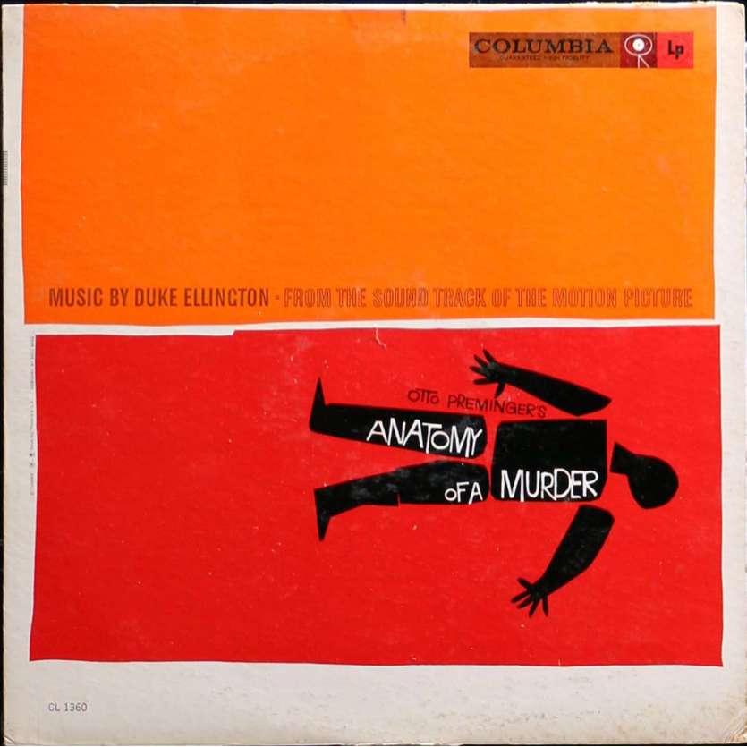 ANATOMY OF A MURDER LP Vinyl 12x12 in. - 1959 - Otto Preminger, James Stewart