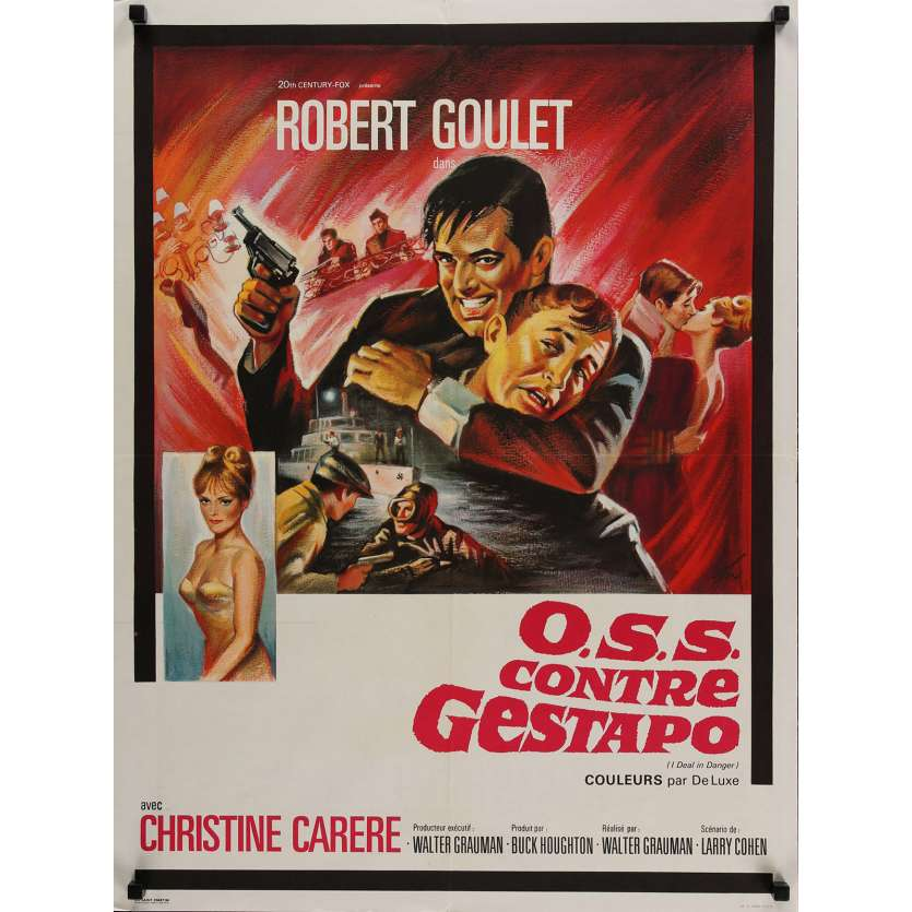 OSS CONTRE GESTAPO Affiche de film 60x80 cm - 1966 - Robert Goulet, Walter Grauman