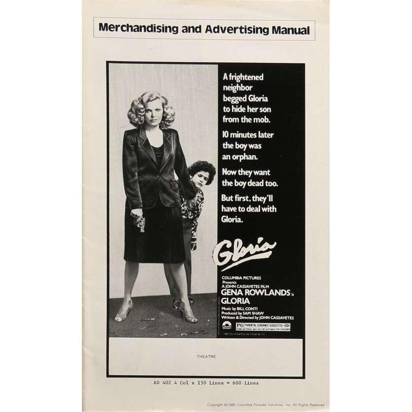 GLORIA Dossier de presse 28x43 cm - 1980 - Gena Rowlands, John Cassavetes