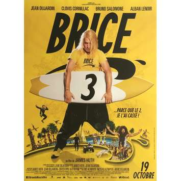 BRICE 3 Movie Poster 15x21 in. - 2016 - James Huth, Jean Dujardin