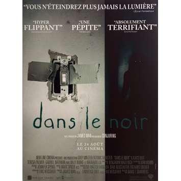 DANS LE NOIR Affiche de film 40x60 cm - 2016 - Teresa Palmer, David F. Sandberg