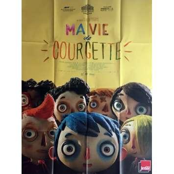 MA VIE DE COURGETTE Affiche de film 120x160 cm - 2016 - Gaspard Schlatter, Claude Barras