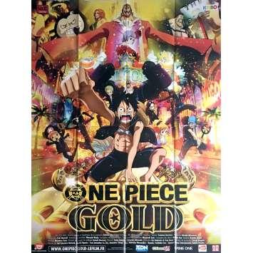 ONE PIECE FILM GOLD Affiche de film 120x160 cm - 2016 - Ikue Otani, Hiroaki Miyamoto