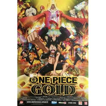 ONE PIECE FILM GOLD Movie Poster 15x21 in. - 2016 - Hiroaki Miyamoto, Ikue Otani