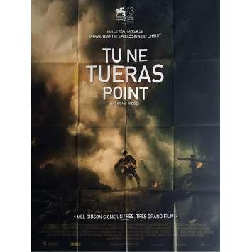 TU NE TUERAS POINT Affiche de film 120x160 cm - 2016 - Andrew Garfield, Mel Gibson
