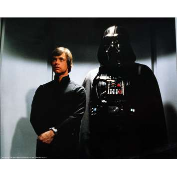 RETURN OF THE JEDI Very Rare color 16x20 still N°7 '83 Star Wars sci-fi, Darth Vader and Luke