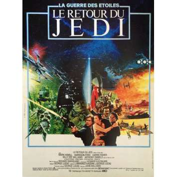 RETURN OF THE JEDI French one-panel movie poster '83 Michel Jouin art! Star Wars