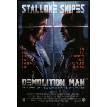 DEMOLITION MAN Movie Poster 29x41 in. - 1993 - Marco Brambilla, Sylvester Stallone