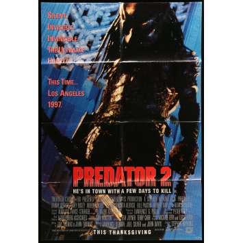 PREDATOR 2 Movie Poster 29x41 in. - 1990 - Stephen Hopkins, Danny Glover
