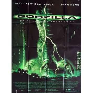 GODZILLA French Movie Poster 47x63 '98 Jean Reno