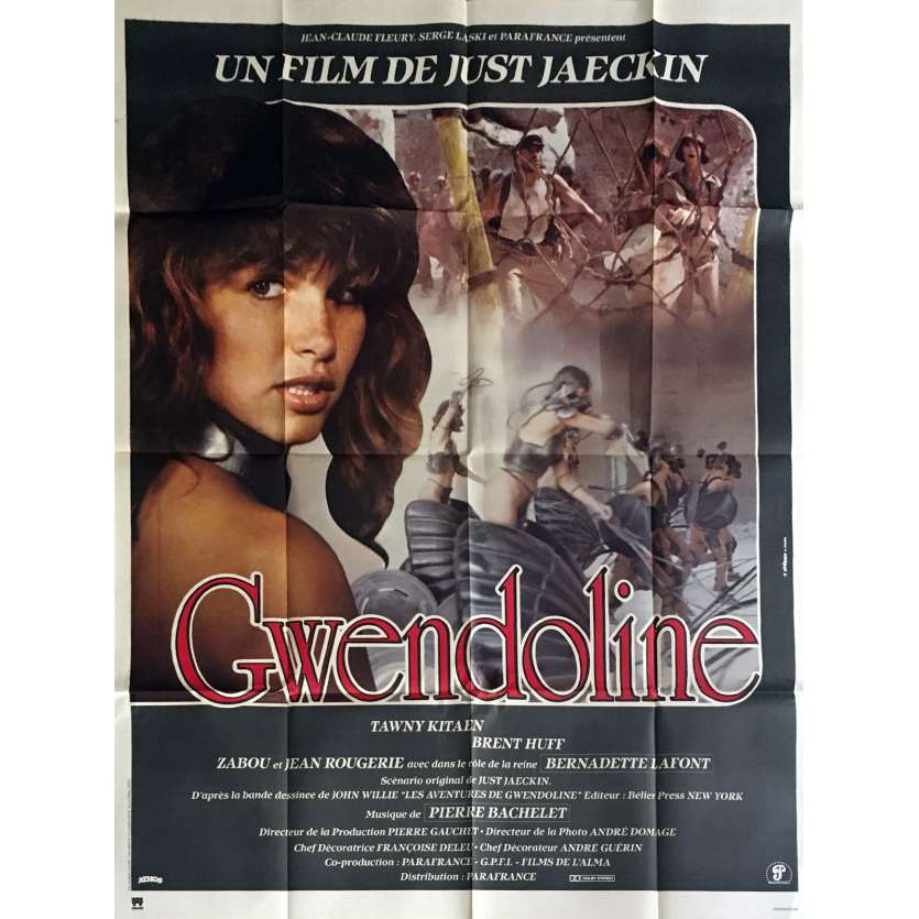 GWENDOLINE French Movie Poster 47x63 - 1983 - Just Jaekin, Zabou