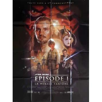 STAR WARS - PHANTOM MENACE French Movie Poster 47x63 - 2000 - George Lucas, Ewan McGregor