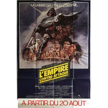 EMPIRE STRIKES BACK French one-panel movie poster '80 Tom Jung art! Star Wars