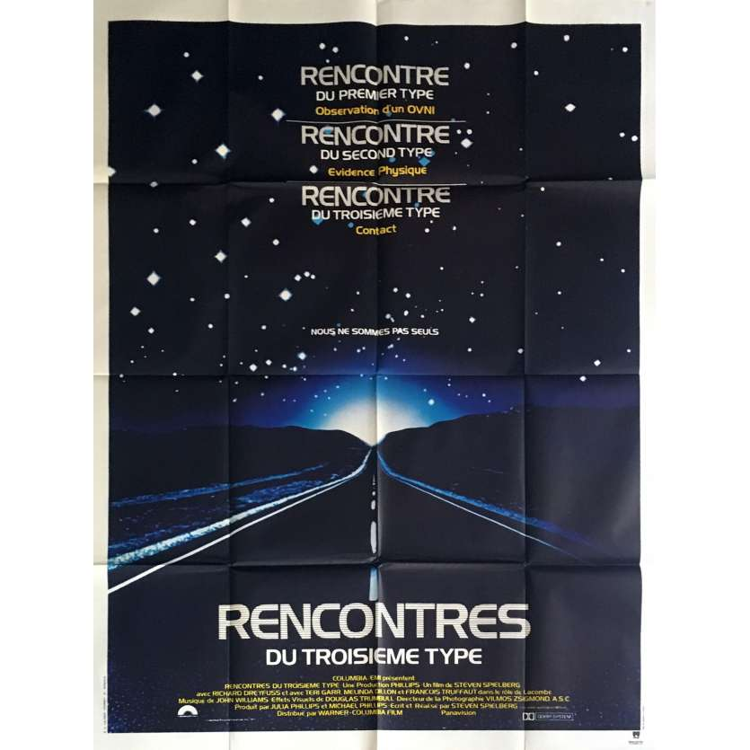 ENCOUNTERS OF THE THIRD KIND French Movie Poster 47x63 '77 Steven Speilberg