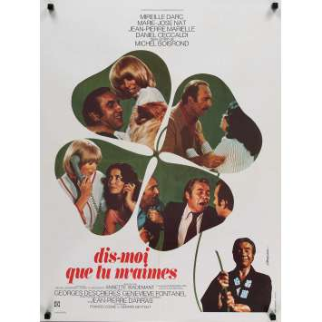 TELL ME YOU LOVE ME Movie Poster 23x32 in. - 1974 - Michel Boisrond, Mireille Darc