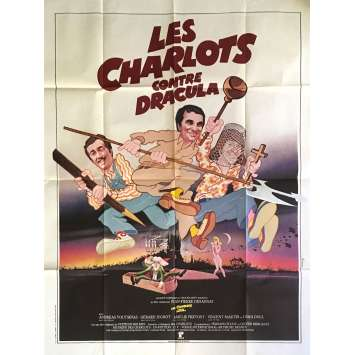 LES CHARLOTS CONTRE DRACULA Movie Poster 47x63 in. - 1980 - Jean-Pierre Desagnat, Les Charlots