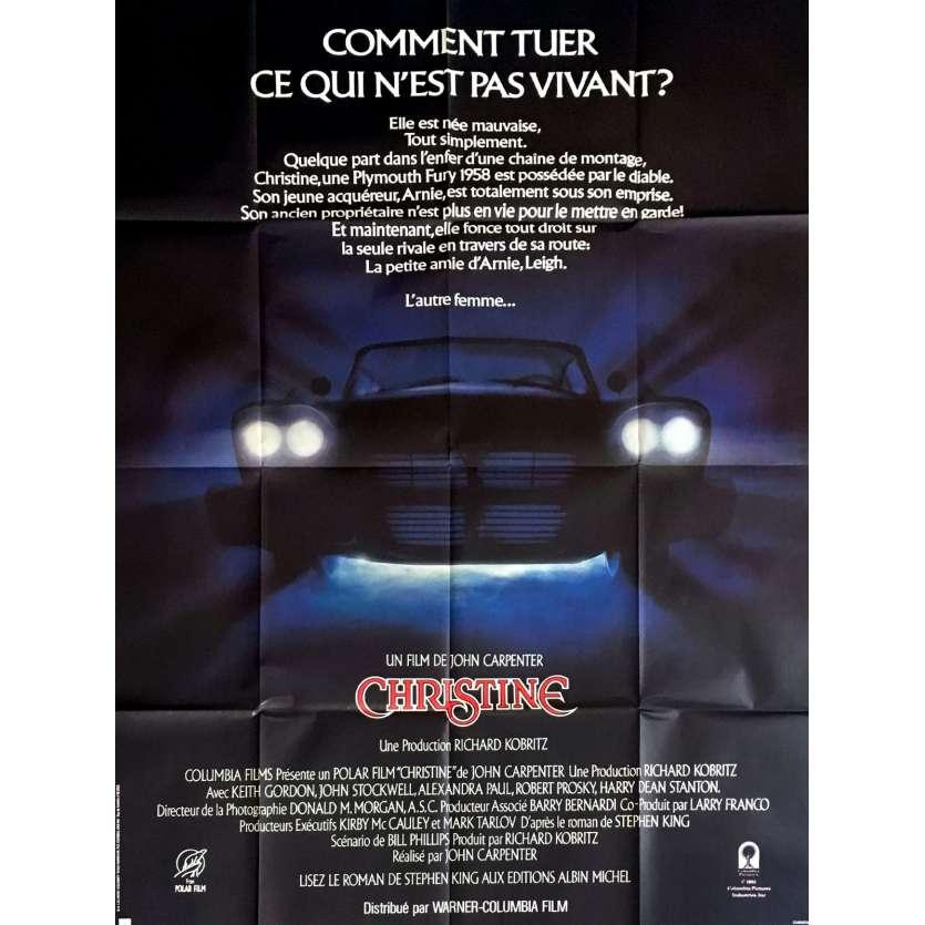 CHRISTINE French Movie Poster 47x63 - 1983 - John Carpenter, Keith Gordon