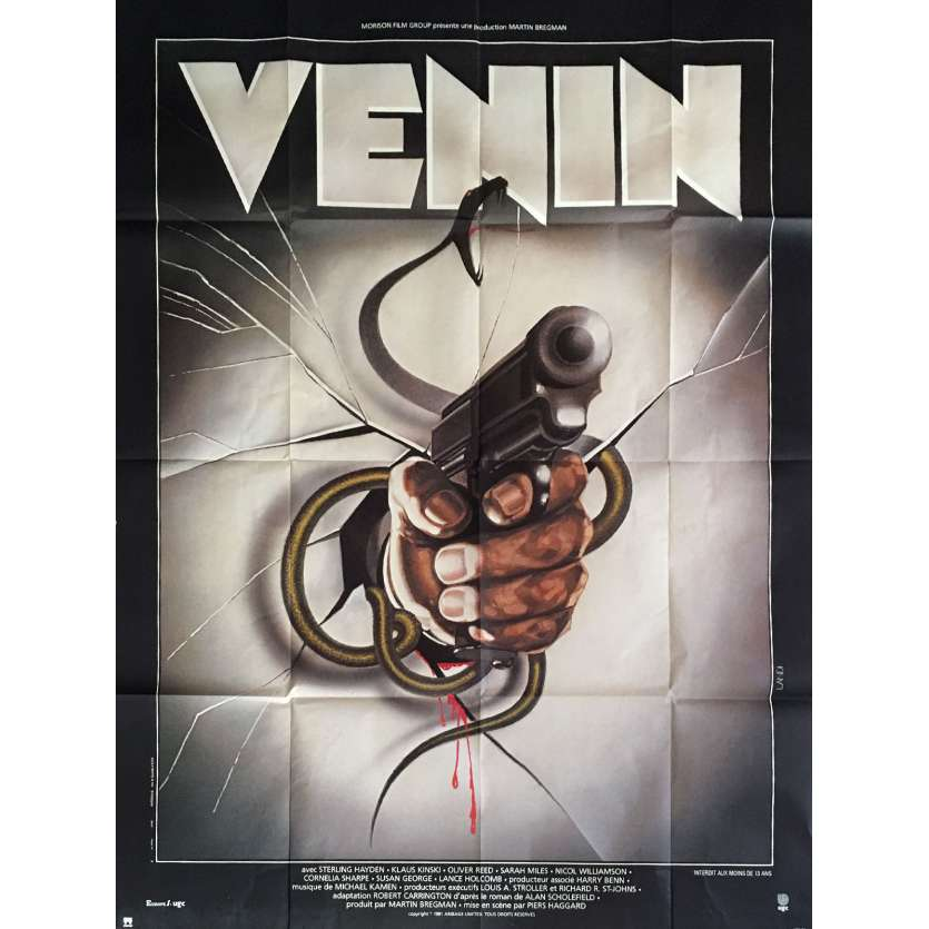 VENOM French 1p Movie Poster Klaus Kinsk Oliver Reed '81